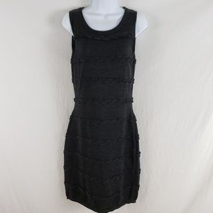 Calvin Klein Sheath Dress Wool Blend Charcoal Gray